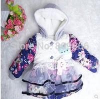 Children's clothing female winter child 2014 cotton-padded jacket infant cotton-padded jacket child wadded jacket outerwear