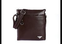 Free Shipping men single strap leisure messenger bag business shoulder bag leather bag