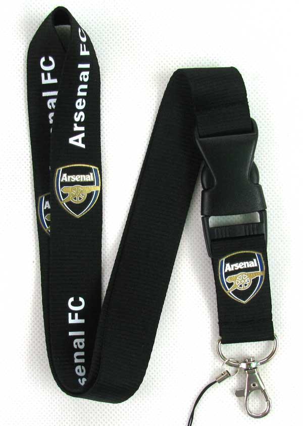 20 pcs Arsenal Soccer Lanyard Key Chain Color - Black(China (Mainland))