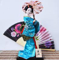 Japanese puppet puppet geisha silk kimono doll accessories humanoid Japanese handicrafts 30CM