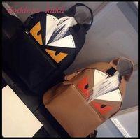 HOT!! 2015 New design women Backpack Fashion Little Devil Cartoon Bag High quality PU Leather School Bag Travel  Backpack  BP006