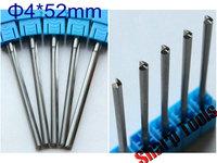 4x 52mm Double Straight Flutes Bit Tungsten Carbide CNC End Mills Milling Cutter Set, CNC Wood Bit Router Cutter MDF Tools