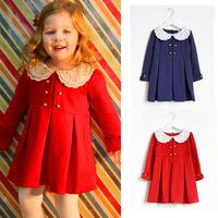 Aones New Autumn Baby Girl Dress Clothes Long Sleeve Spring Kids Party Dress Princess Cotton Children's Dresses Vestido Da DS268