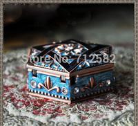classical European hexagram jewelry box gift box ring box high-end luxury jewelry organizer
