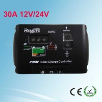 Digital PWM 30A Solar Charge Controller Regulator 12V 24V Autoswitch Solar Panel PV panel Battery Charge Controller