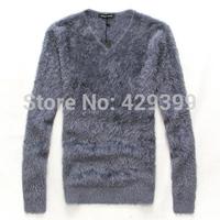 Spring male V-neck thin black T-shirt batwing long-sleeve slim shirt male fashion basic shirt clothes