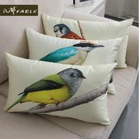 30*50cm  Lumbar pillow PP Cotton Cute Painted Bird Pillow Cover Ikea Nap Pillow Creative Office Lumbar Pad Cushion Covers A271