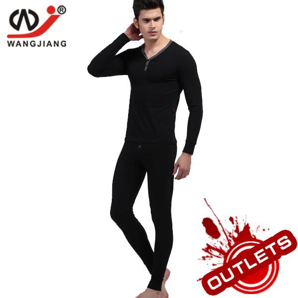 WJ winter thermal underwear set sport suit men cotton long johns cotton shirt winter men calcas leggins femininas cheap 4010-SET(China (Mainland))