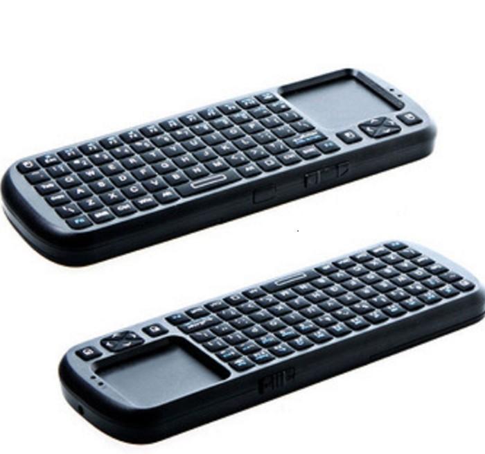 Mini Wireless Handheld Keyboard Touchpad with Smart TV / PC Remote LED Light Computer Peripherals(China (Mainland))