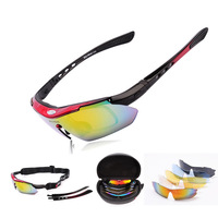 Brand  Professional Polarized Cycling Sports Glasses Bike Casual Goggles Motocross Bicycle Sunglasses UV 400 With 5 Lens 5 color