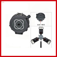 New 3 Head SLR Camera 3 Port Hot Shoe Flash Mount Adapter Umbrella Holder Stand Bracket For Studio Photography