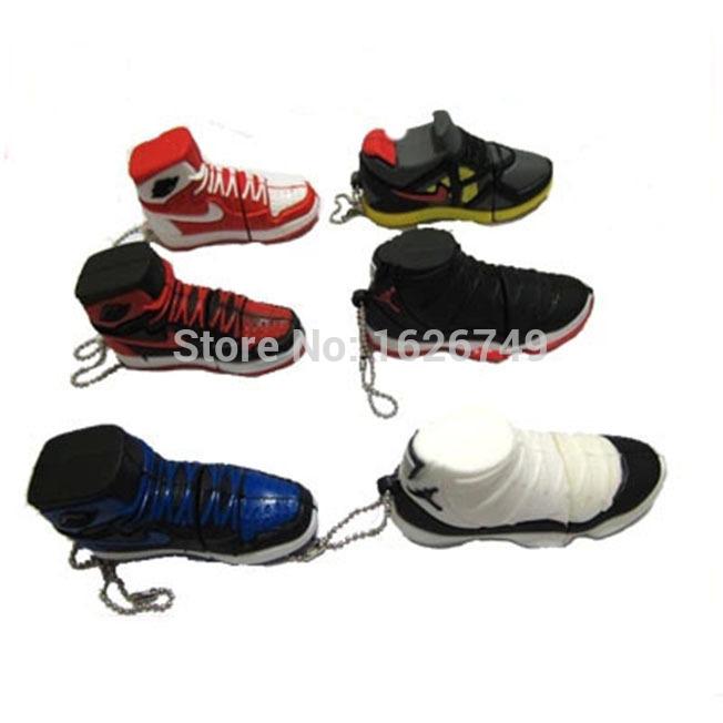 Free shipping Shoes Sport BRAND NEW JORDAN brand basket shoe pendrive 8gb 16gb 32gb sports memory stick usb flash drive USB 2.0(China (Mainland))