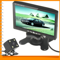 Univeral 7 Inch Color TFT LCD Car Rear View Headrest Monitor Parking + Night Vision Car Rearview Reverse Camera 170 Wide Angle