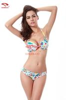 Bikinis Set 2015 Sexy Swimwear Women bras Swimsuits high quality Fashion printed Biquini Push up triangl Bathing Suit brazilian
