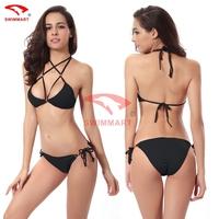 Bandage Swimsuits 2015 Sexy Swimwear Push up Women bead triangl Bikinis Set Fashion Low Waist Biquini  monokini S M L XL 11color