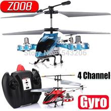 Prezzo all'ingrosso 2015 nuovo di alta qualità avatar z008 4ch 2.4gh mini radio ir telecomando del rtf rc helicopter gyro led  (China (Mainland))