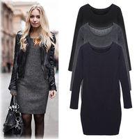 New Spring Autumn Winter Dress Cotton Long Sleeve Women Dress Cashmere Warm Dress Vestido De Festa Big Size Dress XL XXL
