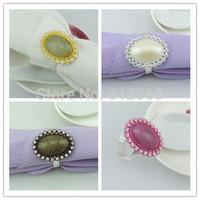 4 Colors For Choose 200Pcs Silver Napkin Ring Rhinestones Napkin Rings for Weddings  Napkin Rings shiny