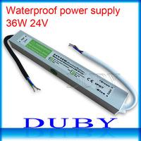50piece/lot 24V 1.5A  36W Waterproof LED Driver Power Supply Outdoor AC90V-250V Input,24V Output Free Fedex