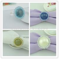 4 Mix Colors For Choose 200pcs  Napkin Ring Serviette Holder Wedding Banquet Dinner Decor Favor