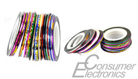 1Set 30pcs Nail Art Rolls Striping Tape Line Mixed Colors Tips Decoration Sticker Newest