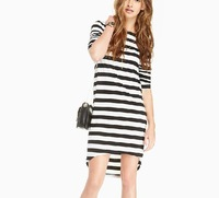 Fashion classic striped knit dress sweet