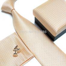 2015 neck tie set for man necktie cufflinks Handkerchiefs gift box(China (Mainland))