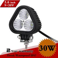 "3.6"" inch 30W LED Work Light 12V IP67 FLOOD Led Driving Light For Off Road 4x4 Truck Motorcy Fog Lamp LED Worklight Save on 36W"