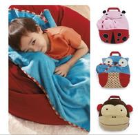 Hot selling!!!!!!!!! Zoo Quilt Blanket Multi-function Pillow Travel blanket Handbag Two Hold blanket Pillows Freeshipping