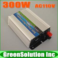 300W DC10.5~28V to AC90~140V Grid Tie Micro Solar Inverter Pure Sine Wave MPPT On Grid Inverters Used for 18V Solar Panels
