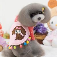 Free Shipping! Wholesale Naughty Teddy Dog Clothing Pet Product for Small Dog Clothes Pet Clothing Dog Coat 10pcs/lot
