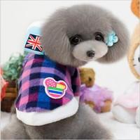 Free Shipping! Wholesale Fleece Winter Dog Clothing Pet Product for Small Dog Clothes Pet Clothing Dog Coat 10pcs/lot