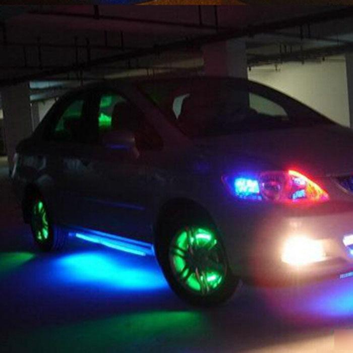 (T-T) 24cm Waterproof 24 Bead Blue LED Decorative Light Lamp Strip for Car Truck Motor(China (Mainland))