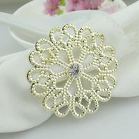 100pcs  Golden wedding napkin ring CJK97-1
