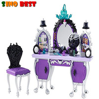 SINO BEST Genuine Original Ever After High Getting Fairest Raven Queen Destiny Vanity Accessory Furnitures Toys Gifts