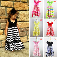 2015 Toddler Girls Summer Princess Anna Party Dress Bohemian European Fashion Children Clothing Ankle-Length Baby Girl Dresses