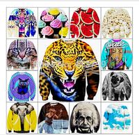 3D MALL 2014 Women Men Animals leopard tiger print Pullover 3D Sweatshirt Hoodie funny Galaxy harajuku sweat suit sudaderas Tops