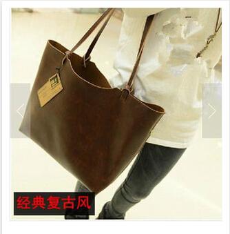 European and American classic leather handbags 2015 portable shoulder bag big bag ladies handbags authentic hand celiness bag(China (Mainland))