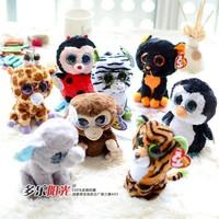 TY Plush Animals Beanie Boos Plush Dakota Horse Toy 6'' 15cm Ty Big Eyes Kawaii Soft Toys for Children Kids Toys Gifts