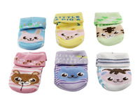6 Pair/lot Anti-slip Slip-resistant Baby Home Socks Cotton Cartoon And Colorful Anklet For 0-1 Years Old Infant Kids