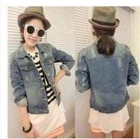 Denim outerwear female 2015 autumn long-sleeve top short design short coat spring and Jean jacket