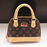2015 new quality pu leather kids handbag fashion famous brand embossed child handbag vintage girls shell tote bag messenger bag