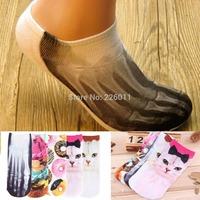1 Pair Unisex Men Women New 3D Printed Socks Cute Low Cut Ankle Socks Multiple Colors Cotton Socks