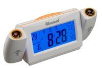 Sound sensor projection clock, alarm clock, mute electronic clock, calendar