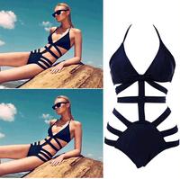 Brand Victoria Swimwear For Women,High Waist Swimsuit Bikinis,Sexy Monokini Bathing Suit, Womens Bandage Swimsuit Black Swimwear