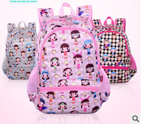 2015 Cute girls backpack Children School Bags For Girls High Quality Backpack Character Bag in Primary School Mochila Infantil