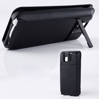 Newest 3800mAh Cubic Texture Power Bank Battery Charger Case for HTC One M8 with Stand Design bank up For HTC One M8