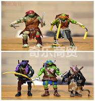 Teenage Mutant Ninja Turtles 5 pcs set figure birthday gift #B