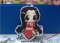 Cartoon double cross-stitch hang / One piece snake ji