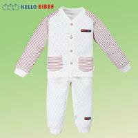 2015 spring and autumn children thickening clip silk floss sleeping set warm pajama for girls boys